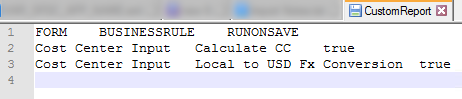 Custom LCM Report XML