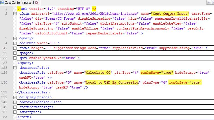 LCM XML PBCS Planning