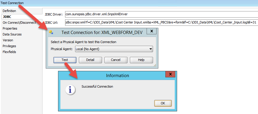 Test Connection of XML Server