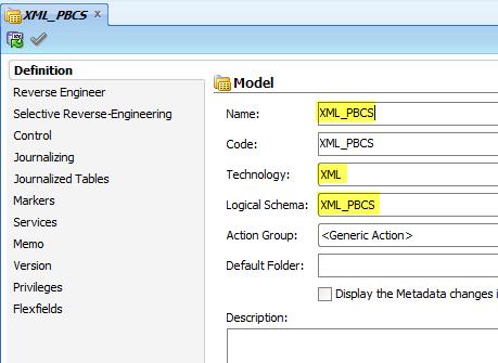 Define XML Model
