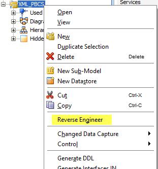 Reverse Engineer the XML Model